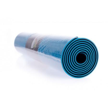 Protiskluzová podložka na jógu / cvičení, 2- vrstvá, modrá / černá, 183x61x0,6 cm