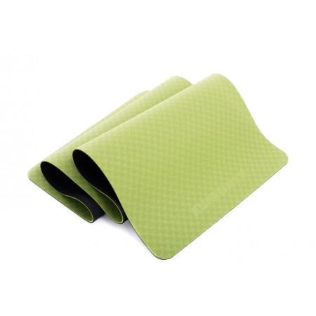Protiskluzová podložka na jógu / cvičení, 2- vrstvá, zelená, 183x61x0,5cm
