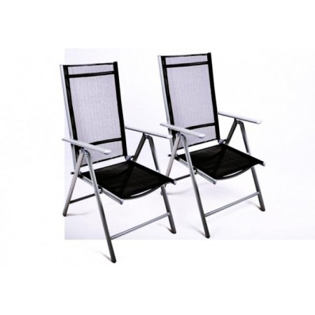 2 ks židlí s nastavitelným opěradlem, textilní výplň
