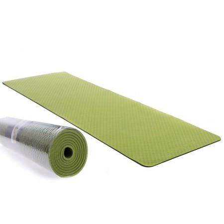Protiskluzová podložka na jógu / cvičení, 2- vrstvá, zelená, 183x61x0,6cm