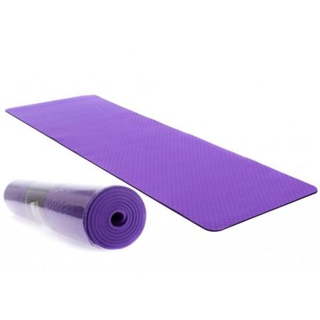 Protiskluzová podložka na jógu / cvičení, 2- vrstvá, fialová, 183x61x0,6cm