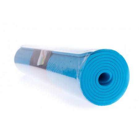 Protiskluzová podložka na jógu / cvičení, 2- vrstvá, modrá, 183x61x0,5cm