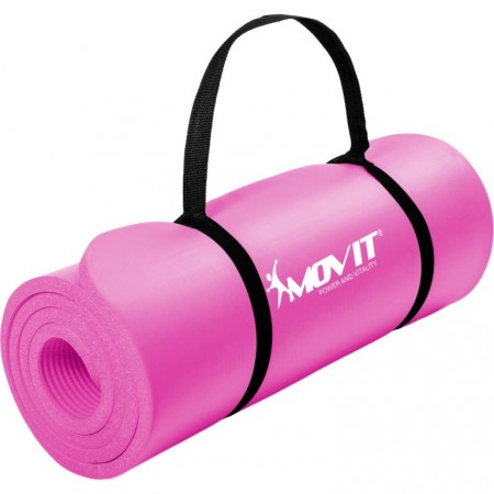 Cvičební podložka na jógu / gymnastiku, extra silná, růžová, 183x60x1cm