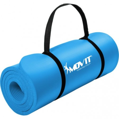 Gymnastická podložka Movit 183 x 60 x 1 cm - blankytně modrá