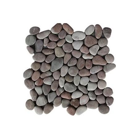 Obklad / dlažka - mozaika venkovní / vnitřní, šedivé oblázky, 1x síťka, 1m2
