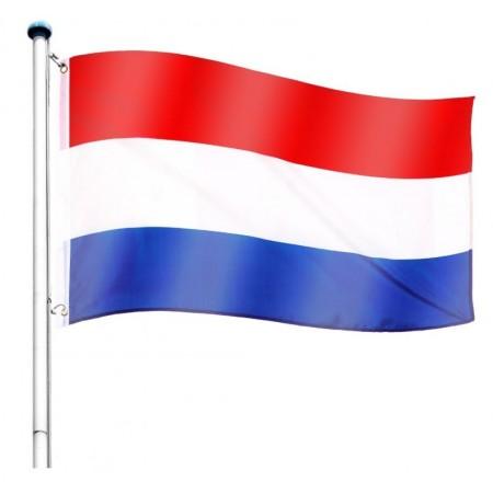 Vlajka Nizozemí včetně stožáru, nastavitelná výška, k zabetonování, 6,5 m