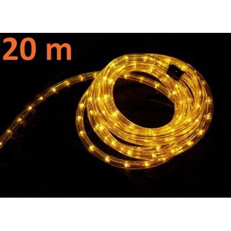 Venkovní světelný kabel, žlutý, 20 m