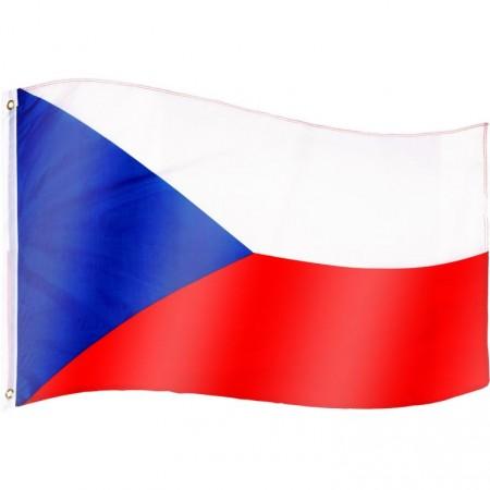 Vlajka České republiky textilní (75 D polyester), s úchyty, 120x80 cm