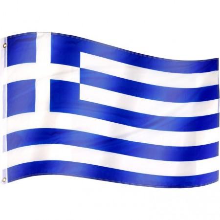 Vlajka Řecka textilní (75 D polyester), s úchyty, 120x80 cm