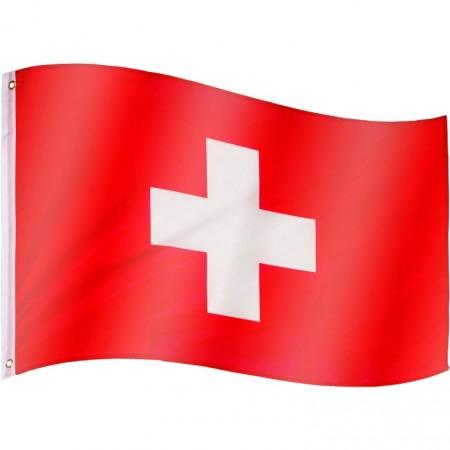 Vlajka Švýcarska textilní (75 D polyester), s úchyty, 120x80 cm