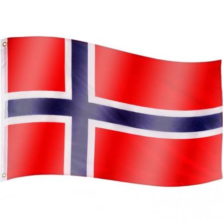Vlajka Norska textilní (75 D polyester), s úchyty, 120x80 cm