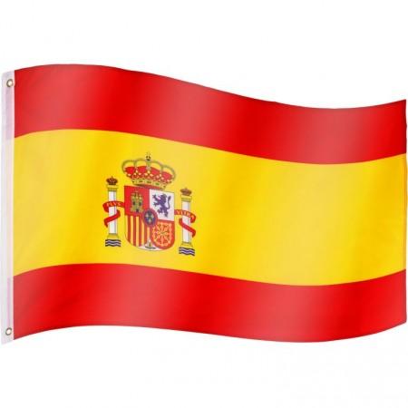 Vlajka Španělska textilní (75 D polyester), s úchyty, 120x80 cm