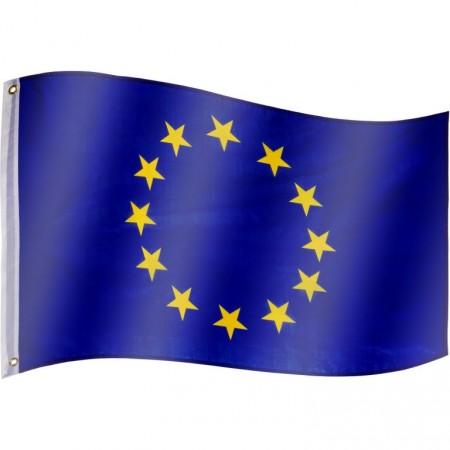 Vlajka EU textilní (75 D polyester), s úchyty, 120x80 cm