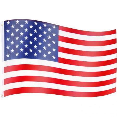 Vlajka USA textilní (75 D polyester), s úchyty, 120x80 cm