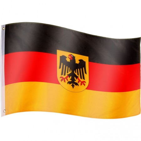 Vlajka německý orel textilní (75 D polyester), s úchyty, 120x80 cm