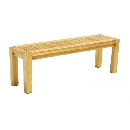 Pevná dřevná lavice z masivu, bez opěradla, dřevo akácie, 142 cm