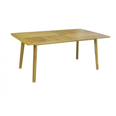 Dřevěný obdélníkový stůl na zahradu / terasu, dřevo akácie, 110x180 cm