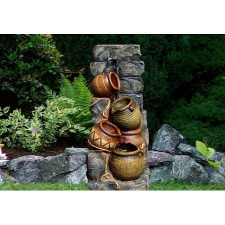 Osvětelná kašna - fontána venkovní / vnitřní, 4 džbány
