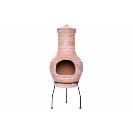 Venkovní designový terakotový krb na zahradu / pod pergolu, 85 cm