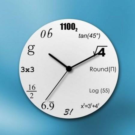 Matematické hodiny - bílé
