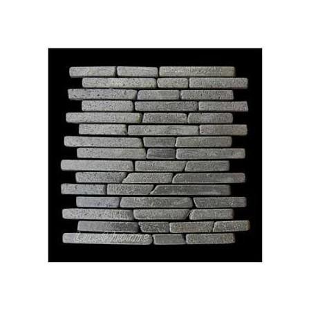 Obkladový kámen venkovní / vnitřní, kamenná mozaika Andezit, šedivá, 1m2