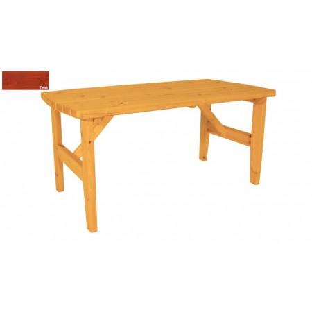 Bytelný venkovní stůl obdélníkový, masiv, povrchová úprava teak, 160x81cm