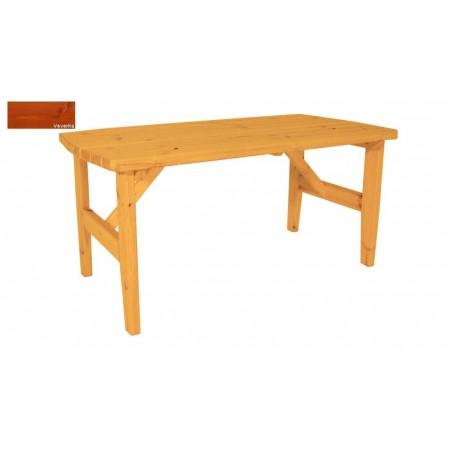 Bytelný venkovní stůl obdélníkový, masiv, povrchová úprava veverka, 160x81cm