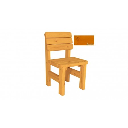 Bytelná zahradní židle z masivu, selský styl, povrchová úprava borovice