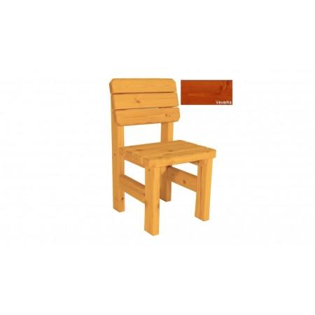 Bytelná zahradní židle z masivu, selský styl, povrchová úprava veverka