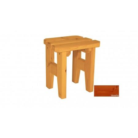 Zahradní dřevěná stolička Eduard - s povrchovou úpravou - VEVERKA