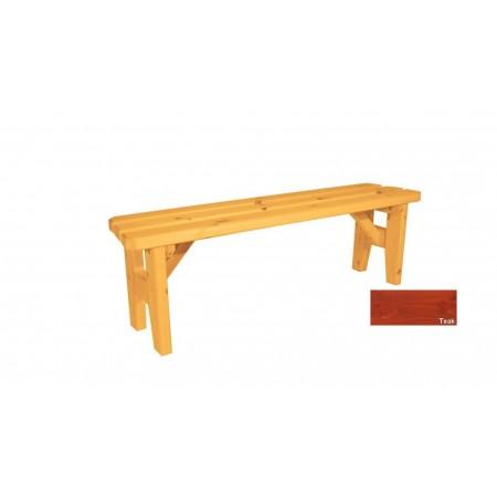 Zahradní dřevěná lavice bez opěradla Eduard - s povrchovou úpravou - 150 cm - TEAK