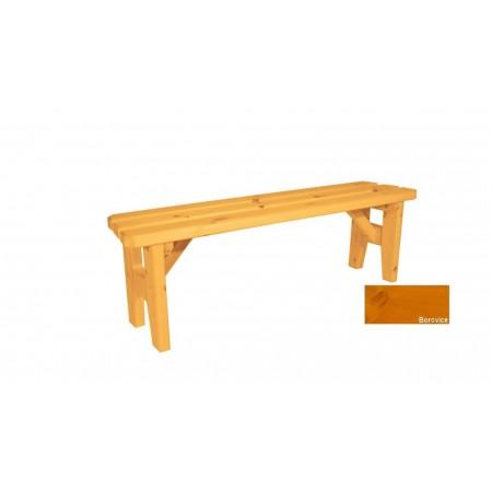 Zahradní dřevěná lavice bez opěradla Eduard - s povrchovou úpravou - 150 cm - BOROVICE