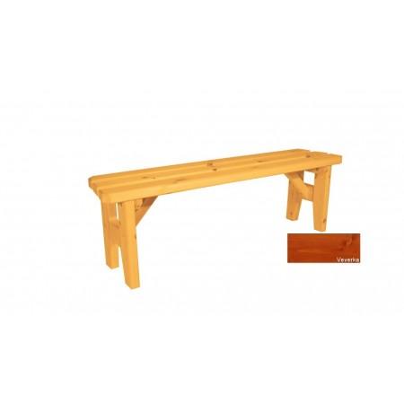 Zahradní dřevěná lavice bez opěradla Eduard - s povrchovou úpravou - 150 cm - VEVERKA