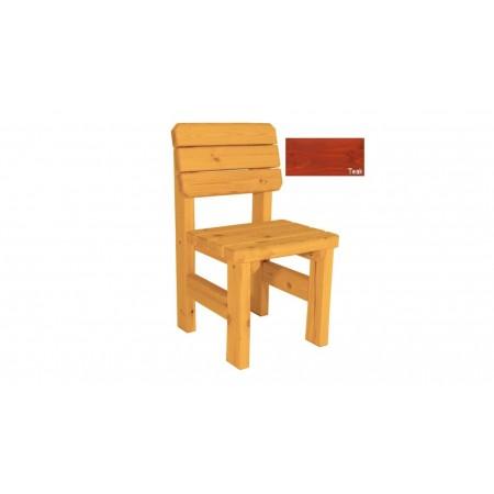 Zahradní židle z masivního dřeva, selký vzhled, úprava teak