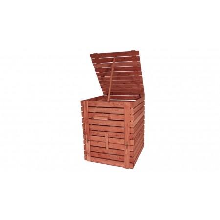 Kompostér z masivního dřeva kvádr, sibiřský modřín, 100x105x122 cm, 1200L