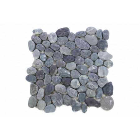 Obklad / dlažba - mozaika na síťce venkovní / vnitřní, pravý kámen- oblázky šedé, 1x síťka