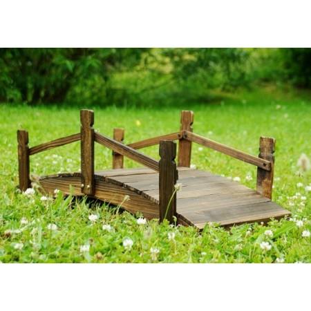 Ozdobný dřevěný zahradní  můstek 70 x 32 x 25 cm