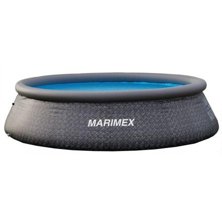 Nadzemní bazén s nafukovacím kruhem, bez filrace, 366x91cm, hnědý (ratan)