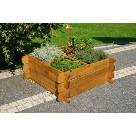Velký dřevěný květináč na bylinky / květiny / zeleninu, 80x80 cm
