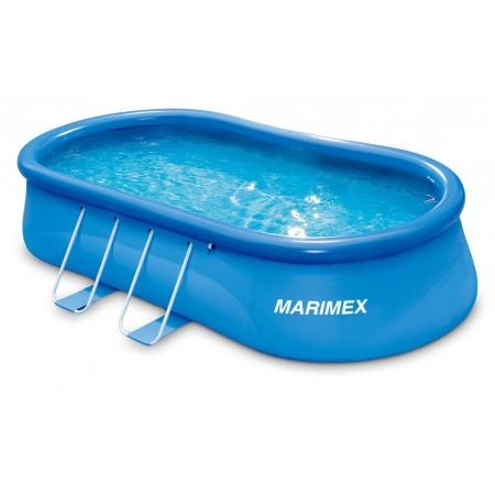 Nadzemní velký rodinný bazén bez filtrace, 549x305x107 cm, oválný, modrý