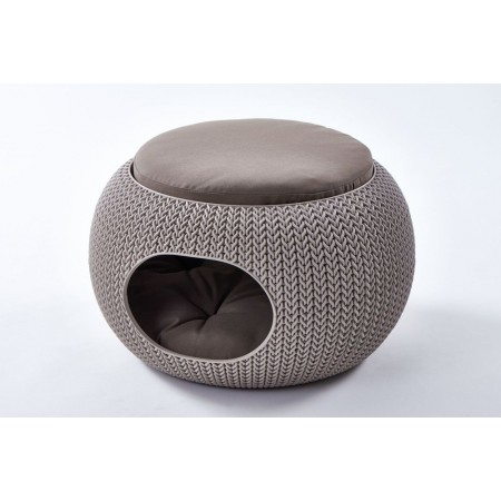Designový pelíšek (boudička) pro psa /kočku, pískový, průměr 57 cm