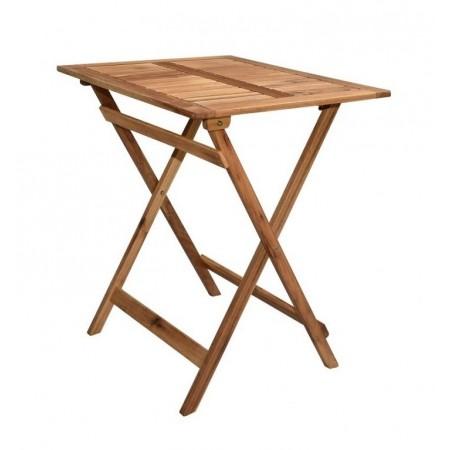 Menší dřevěný skládací venkovní stolek, dřevo akácie, 65x55 cm