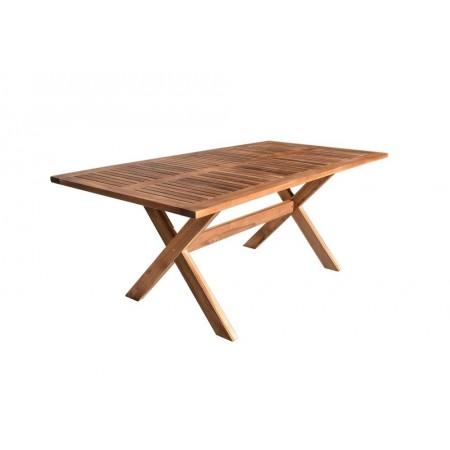 Masivní dřevěný venkovní stůl obdélníkový, akácie, 200 cm