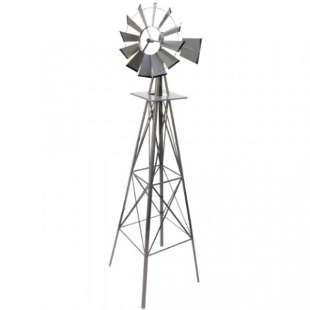 Velký dekorativní větrný mlýn v americkém stylu, 245 cm