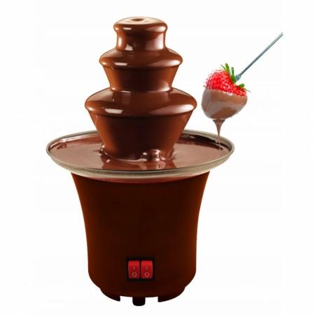 Čokoládová fondue fontána, nerez, elektrická- 230 V, 23 cm