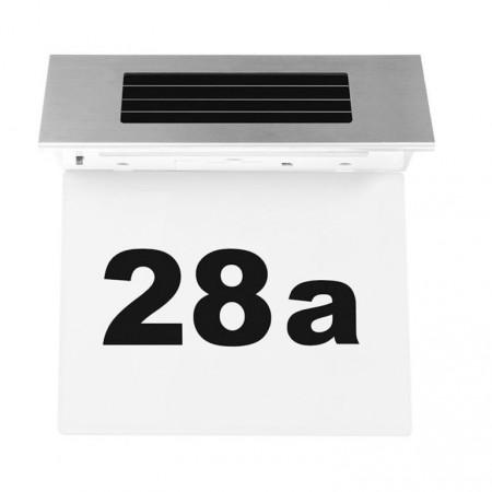 Domovní číslo na stěnu / dveře / vrata se solárním osvětlením