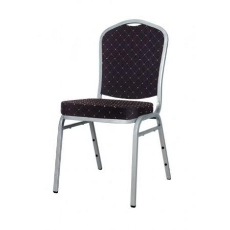 Banketová / kongresová židle s polstrovaným sedákem, vysoká nosnost 150 kg