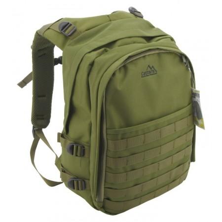 Středně velký turistický batoh s 10 kapsami Olive, 30L