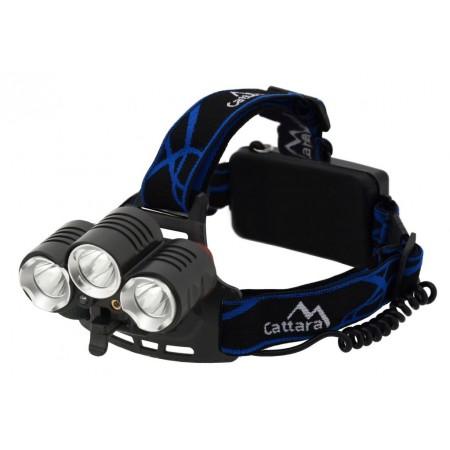 Čelovka / čelová lampa na hlavu, 3x LED dioda, 400lm