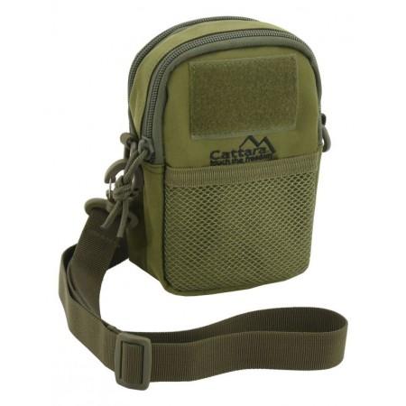 Brašna / batoh se dvěma kapsami, nepromokavá, 17x12x7 cm, zelená